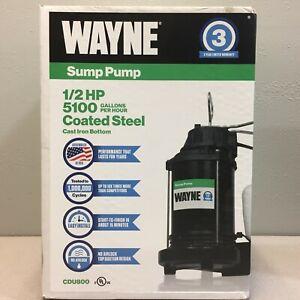 Wayne CDU-800 1/2 hp 5,100 gph Cast Iron Vertical Float Switch AC Sump Pump