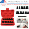 11PCS Grip & Twist Sockets Locking Wheel Nut Remover Damaged Rounded Bolts Kit