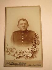 Würzburg-Norimberga-Fürth-Soldato in Uniforme-KB IR n. 14-Portrait/CDV