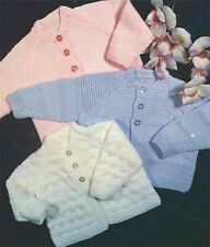 Knitting pattern-  Baby cardigan 3 styles in DK-Easy Knit- fits birth - 12 month