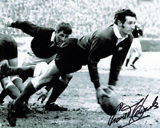 Gareth Edwards HAND SIGNED Wales Rugby Legend 10x8 Photo AFTAL Autograph COA