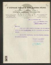 """PARIS & LYON (II° / 69) SOIERIES LAINAGES CONFECTIONS """"S. WIBAUX & BUHL"""" en 1943"""