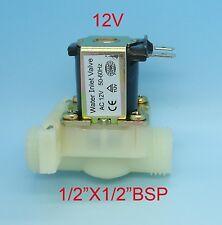12V 12 Volt Coil Straight Water Inlet Solenoid Valve 1.3cmx1/5.1cm Bsp Sv12