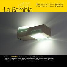 lampada da parete artigianale in pietra tufo leccese naturale applique LA RAMBLA