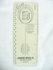 "ANTIQUE 1905 ""JOHNSTON OPTICAL CO"" OPTICAL LENS RULER / GUAGE COLLECTIBLE - L@@K"