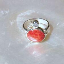 Ringe mit Edelsteinen aus Sterlingsilber echten 56 (7 mm Ø) Mondstein