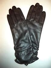 """Ladies Women's Top Quality11"""" Genuine Leather Gloves,Small, Black"""