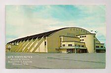 Quebec Coliseum Colisée Pre Nordiques Vtg Hockey Arena Postcard Postmarked 1963