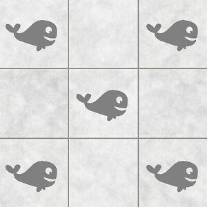 16 Whale Tile Stickers Transfers Decals Bathroom Waterproof Sea Ocean