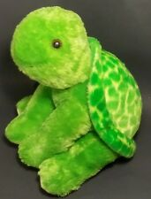 "Aurora Plush Turtle Green Stuffed Animal Toy Soft 12"" Sitting Cute Handmade"