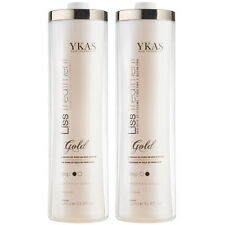 Y-kas Escova Progressiva Ouro Gold glitter Kit 2x34oz Keratin Brazil ykas