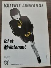 Publicité advert advertising concert tournée album VALERIE LAGRANGE 1980
