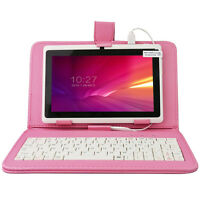 "7"" Google Android 4.4 Tablet PC HD Quad Core+Keyboard Case Bundle US STOCK WHITE"