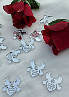 Personalised Wedding Dove Favours x50 Table Decorations Scatters Mr Mrs Confetti