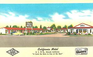 VIntage Postcard-California Motel, Merced CA