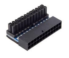 2xNeu 90 Grad Netzteil PC Mainboard Motherboard Buchse ATX 24P auf 24pin Stecker