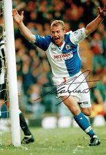 Alan SHEARER Signed Autograph Photo AFTAL COA Blackburn Rovers Goal Celebration