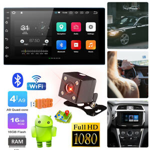 """7"""" GPS SAT NAVI Android 10.0 Double 2 DIN MP5 Player Car Radio Stereo Head Unit"""