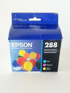 Epson 288 Standard Capacity Color Cyan Magenta Yellow Pack New 11/23
