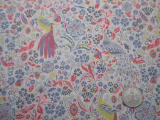 """LIBERTY PRINTS Craft Tissu """"Peacock Garden"""" 23 x 27 cm TANA LAWN coton"""