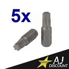 5x Embouts de vissage TORX 25 T25 - Longueur 25 mm