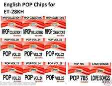 ENGLISH POP SONG CHIPS for Enter Tech Entertech Magic Sing Mic On Stage ET28KH