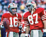 JOE MONTANA DWIGHT CLARK Photo Picture SAN FRANCISCO 49ers 8x10 or 11x14 (MP2)
