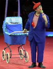 Old Photo. Moscow, Russia. Andrej Nikolajev - Circus Clown & Baby Carriage