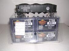 "B.L.I. #2766 B.& O. W2b ARA 70 Ton 4-Bay ""Black"" Hopper Cars  w/4 Diff.#s  H.O."