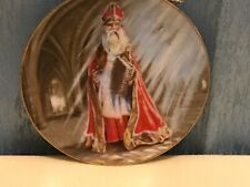 History Of Santa Claus St Nicholas Limited Edition Duncan Royale 1983 Mini Plate
