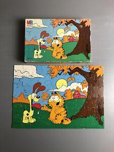GARFIELD Vintage Jigsaw Puzzle - Jim Davis 60 Piece Jigsaw MB Complete 1978