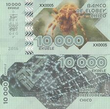 Elobey Chico 10000 ekuele 2016 UNC Spider Private Issue