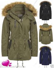 Manteaux et vestes parkas en fausse fourrure pour femme