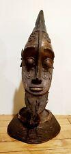 "Bronze IFE Head Nigeria African Art Male 22"" tall"