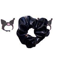 Black Leather Scrunchie
