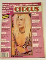 Circus Magazine March 1985 Motley Crue Van Halen WASP KISS Iron Maiden Bon Jovi