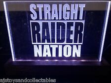 LED Sign-Custom NFL Raider Nation-plates can be removed and different ones added