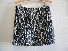 Womens Size Waist 30 Clothes Faux Fur Leopard Print Sexy Mini Skirt EUC Guess