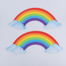 Removable 3D Sponge 2Pcs/Set EVA Rainbow DIY Kids Room Nursery Home Wall Sticker