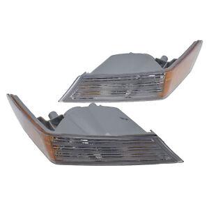 Pair Fog Corner Light Lamp Cover Driver & Passenger Side For Jeep Patriot 07-14