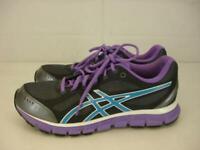 Womens 9 M Asics Gel-Flash Running Training Gray Black Purple Blue Shoes Walking