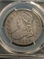 1814 Capped Bust Silver Half Dollar O-105a Single Leaf Rarest Variety PCGS Ch XF