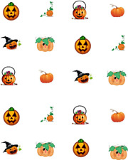 Pumpkins ***CHILD SIZED*** Waterslide/ Water Transfer Nail Decals/Nail Art