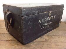 COPERTA in pino antico petto legno MARINAI Bagagliaio Maniglia in Metallo Stile Vittoriano Vecchio Box