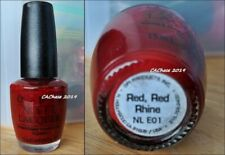 Opi Nail Polish - Discontinued Color Red, Red Rhine Lacquer New Bottle