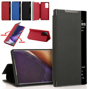 For Samsung Galaxy Note 20 Ultra Case Leather Smart View Auto Sleep Stand Cover