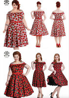 Hell Bunny Cordelia Rockabilly Pinup Swing Retro Vintage dress XL-4XL