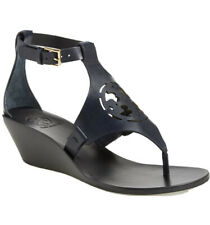 Tory Burch Blue Navy Zoey Wedge Sandal Size 8