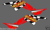 Honda TRX250R FMF Graphics Kit Fenders Plastics Decals Stickers 250R ATV trx Red