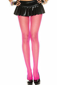 COLOR FISHNET TIGHTS Seamless Pantyhose 21 COLORS! Soft Nylon OS